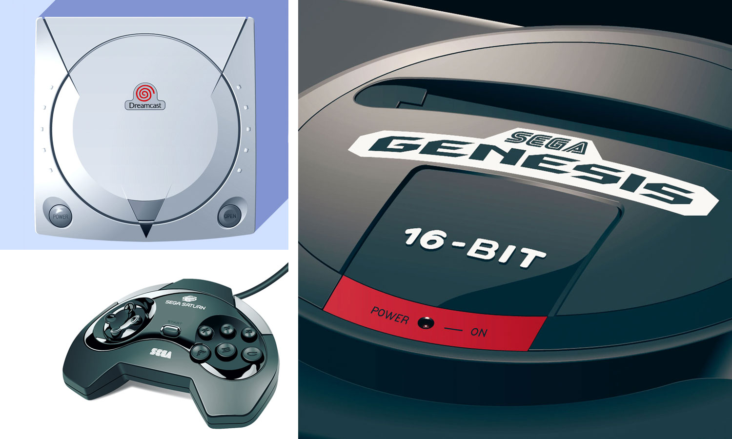 video game console illustrations