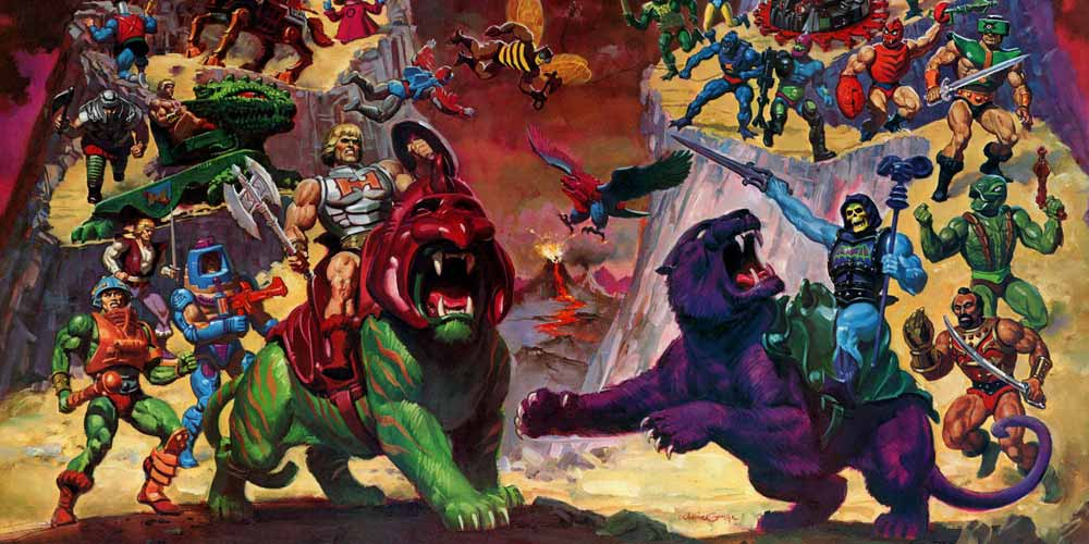 illustrated scene from the animated show he-man