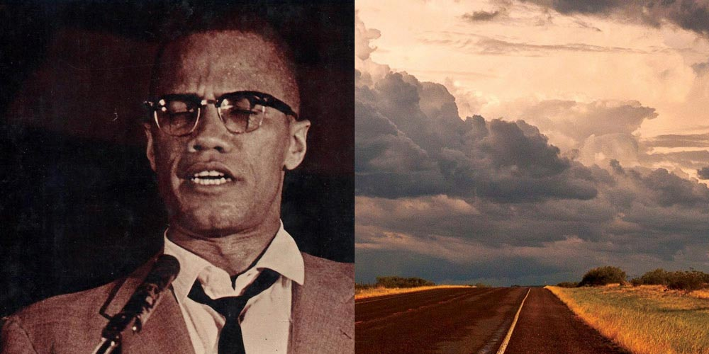 malcolm x and a landscape of texas