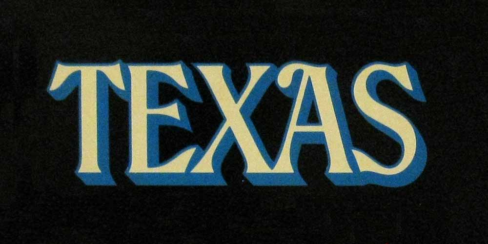 illustration of the word texas