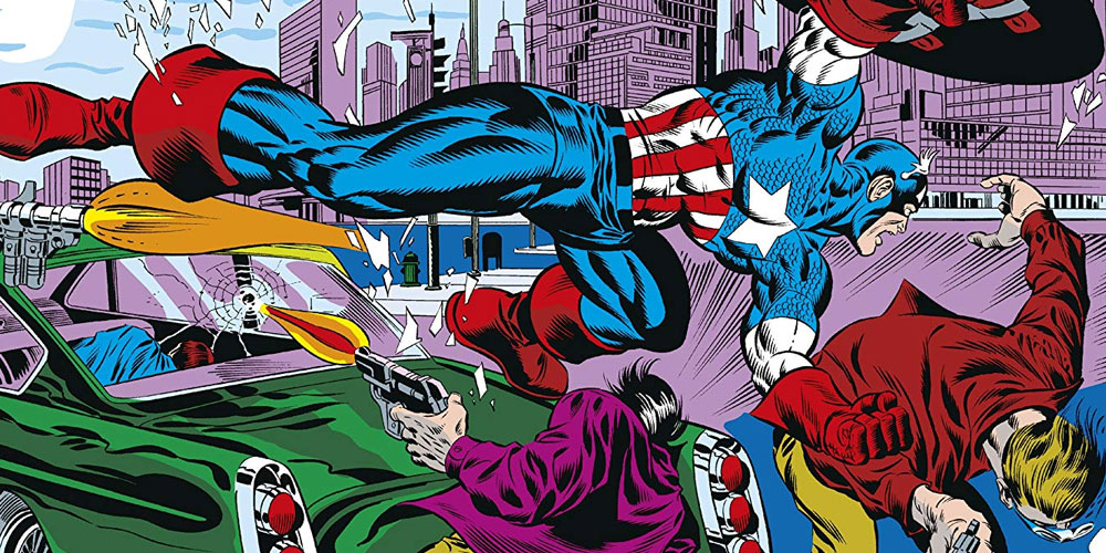 captain america beating up some bad guys